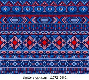 Navajo american indian pattern tribal ethnic motifs geometric vector background. Chic native american tribal motifs clothing fabric ethnic traditional design. Navajo symbols clothes pattern.