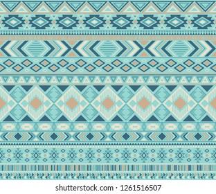 Navajo american indian pattern tribal ethnic motifs geometric seamless background. Unusual native american tribal motifs clothing fabric ethnic traditional design. Navajo symbols clothes print.