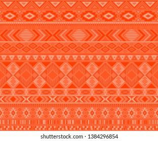 Navajo american indian pattern tribal ethnic motifs geometric seamless background. Impressive native american tribal motifs textile print ethnic traditional design. Navajo symbols textile pattern.