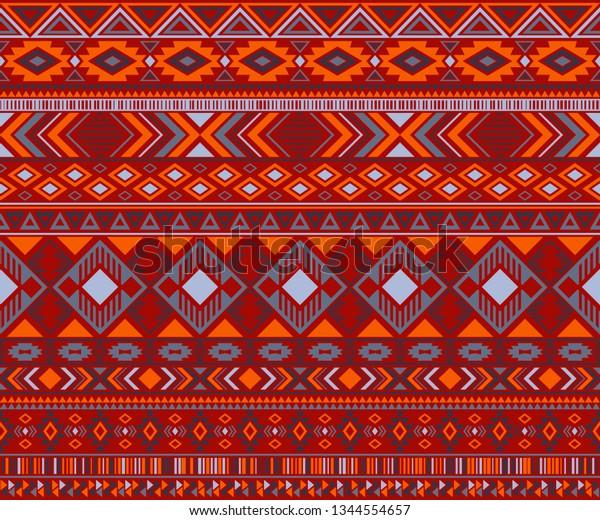 Navajo American Indian Pattern Tribal Ethnic Stock Vector