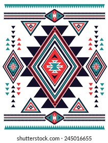 Navajo Aztec big pattern vector illustration