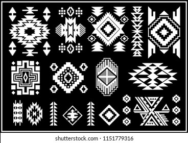 Navajo indian vector objects board