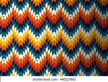 Navajo - Native American vector pattern