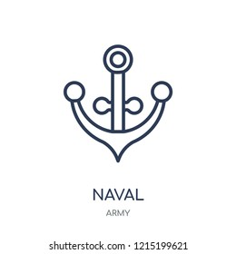 naval icon. naval linear symbol design from Army collection.