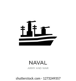 naval icon vector on white background, naval trendy filled icons from Army and war collection, naval simple element illustration