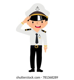The naval officer wears a uniform.