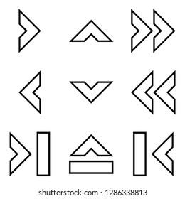 Navigation Chevron Arrows