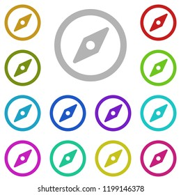 Navigation and compas icon in multi color style. Simple glyph vector of education set for UI and UX, website or mobile application