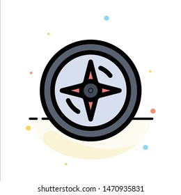 Navigation, Compass, Location Abstract Flat Color Icon Template. Vector Icon Template background