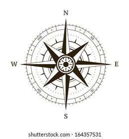 Navigation compass wind rose vector illustration