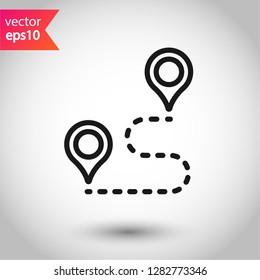Navigation icon. Destination point sign. Location vector symbol