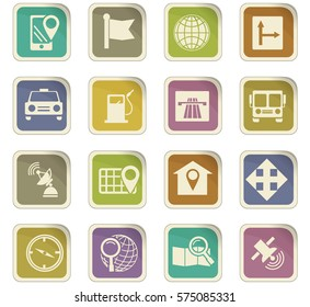 Navigation icon set for web sites and user interface