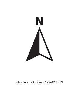 Navigation icon vector simple design