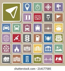 Navigation icons Sticker