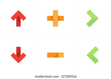 Navigation Icons for web, mobile and software applications.