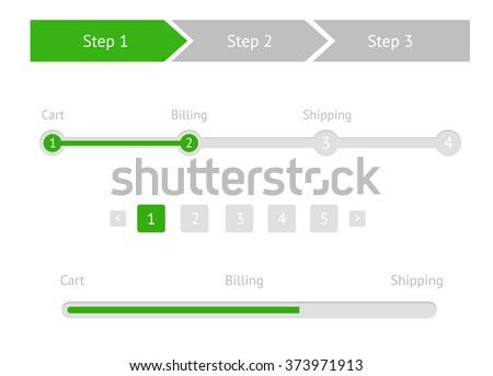 navigation menu flat style step by のベクター画像素材 ロイヤリティ