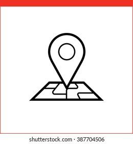 Navigation pin pointer roadmap icon