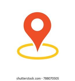 navigation pin - vector symbol - map location