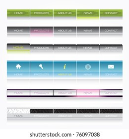 Navigation templates for web site vector