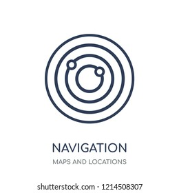 Navigation trajectory icon. Navigation trajectory linear symbol design from Maps and locations collection. Simple outline element vector illustration on white background.