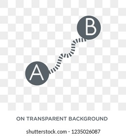 Navigation trajectory icon. Trendy flat vector Navigation trajectory icon on transparent background from Maps and Locations collection.