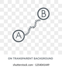 Navigation trajectory icon. Trendy flat vector Navigation trajectory icon on transparent background from Maps and Locations collection. High quality filled Navigation trajectory symbol use for web and