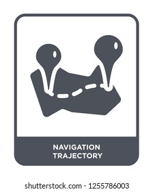 navigation trajectory icon vector on white background, navigation trajectory trendy filled icons from Maps and locations collection, navigation trajectory simple element illustration
