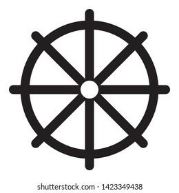 navigation whell icon design vector