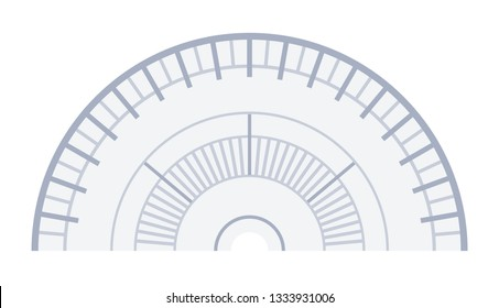 Navigator protractor vector flat icon isolated on white