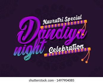 Navratri festival, Navratri Garba Dance, Navratri dandiya dance festival, Indian dandiya night.