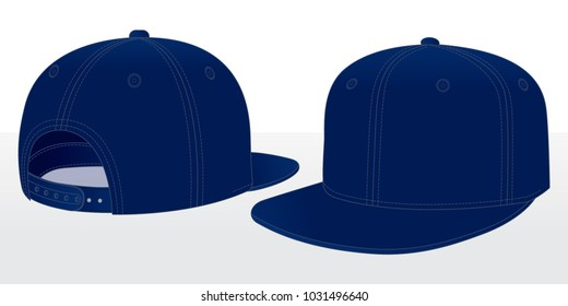 Navy blue Classic Hip Hop cap   snap back  Perspective view c12ccbb64f9f