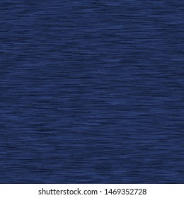 Navy Blue Marl Heather Triblend Melange Seamless Repeat Vector Pattern Swatch.  Kit t-shirt fabric texture. Stripe.