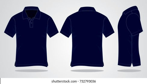 Navy Blue Polo shirt for template