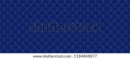 Navy Blue Seamless Pattern Retro Style Stock Vector Royalty Free