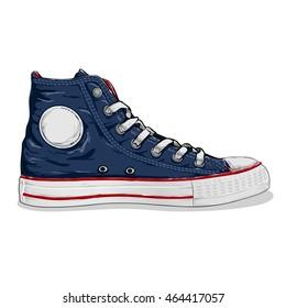 navy blue sneaker shoes
