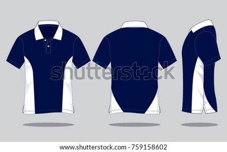 4fccb7a24 ... Vector (Royalty Free) 759158602 - Shutterstock. Navy blue Sport Polo  Shirt design