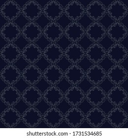 Navy Blue Wallpaper, Vector Background with silver ad gray, Luxurious, Wallpaper, Luxury geometric seamless vector pattern in vintage fashion design, printing, fashion design,wedding and invitation