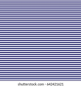 Navy blue and white horizontal stripes seamless pattern