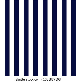 Navy Blue and White Stripes Seamless Pattern - Vertical navy blue and white stripes seamless pattern