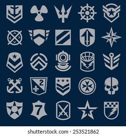 Navy military symbol icons