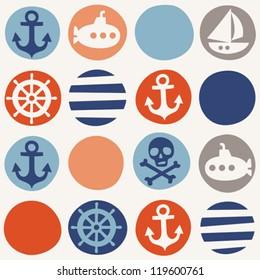 Navy seamless pattern