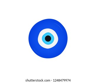 Nazar Amulet icon, Amulet from the evil eye vector web icon isolated on white background, EPS 10, top view