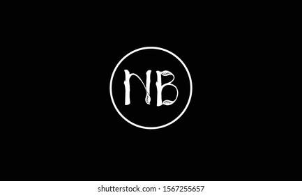 NB abstract vector logo monogram template