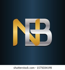 NB BN Double Initial Letters Logo