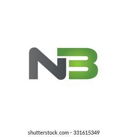 NB company linked letter logo green