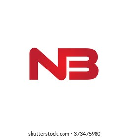 NB company linked letter logo red