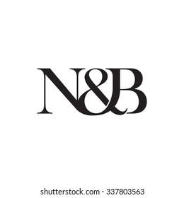 N&B Initial logo. Ampersand monogram logo