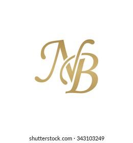 NB initial monogram logo