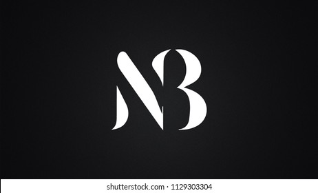 NB Letter Logo Design Template Vector