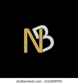 NB Letter monogram with abstrac concept style design